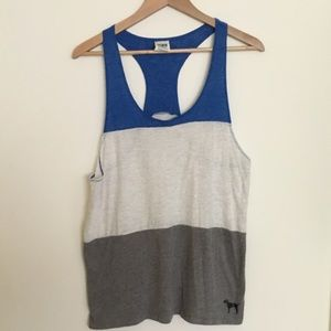 Pink racer back tank top